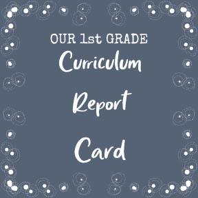 1st Grade Report Card