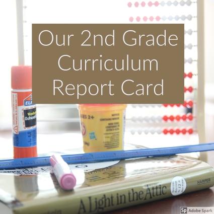 2nd Grade Curriculum Report Card