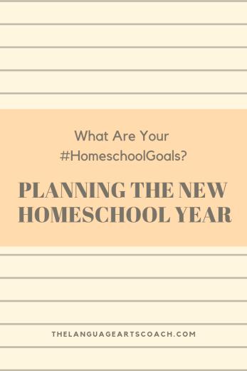 Planning the new homeschool year